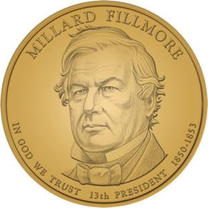Millard Fillmore Presidential Dollar Design Image