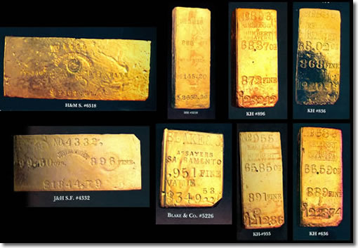 Stolen SS Central America gold ingots