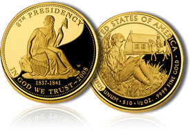 Van Buren's Liberty First Spouse Gold Coin