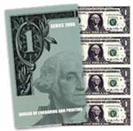 Series 2006 $1 Uncut Currency Sheet