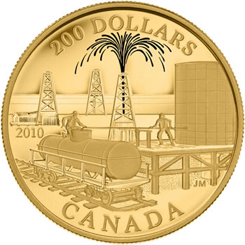 2010 22-KARAT GOLD COIN -- HISTORICAL COMMERCE: PETROLEUM AND OIL TRADE