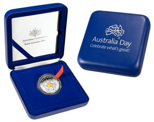 Australia Day 2010 coin packaging