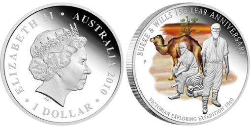 The Perth Mint Burke & Wills Expedition Anniversary Silver Proof Coin