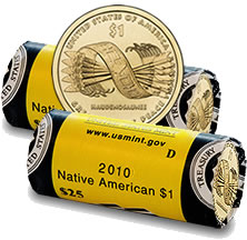 2010 Native American Dollar Rolls