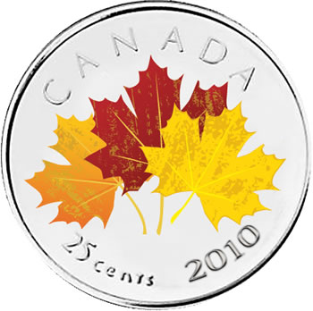 Oh! Canada 25c coin