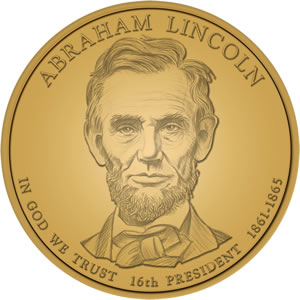 Abraham Lincoln Presidential Dollar Design Image