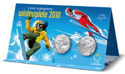 Austria 2010 Winter Games Coins Packaging