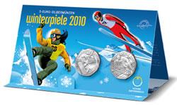 Austria 2010 Winter Games Coins Packaging