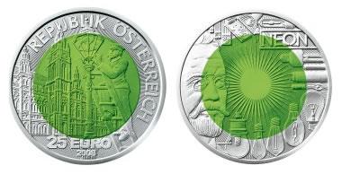 Austrian Mint 25 Euro Fascination Light Silver Coin