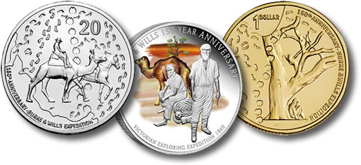 Burke & Wills Expedition Anniversary Australian Coins