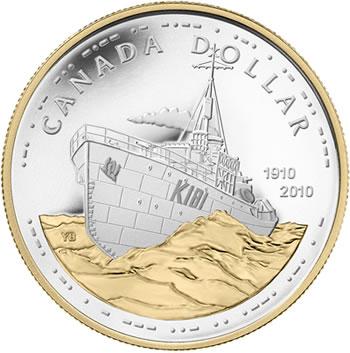 2010 Canadian Navy Centennial Silver Dollar