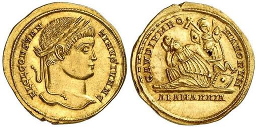 Constantinus II Solidus, Treveri coin