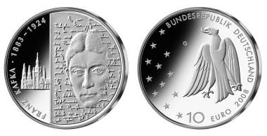 German 10 Euro Franz Kafka Silver Coin