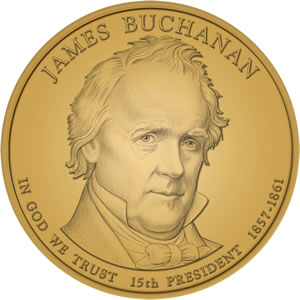 James Buchanan Presidential Dollar Design Image
