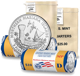 Northern Mariana Islands Quarter, Bags and Rolls