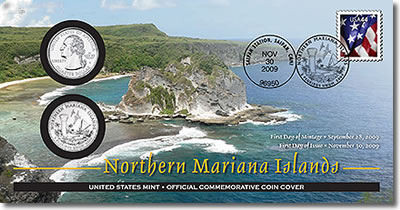 Northern Mariana Islands Quarter First Day Coin Cover
