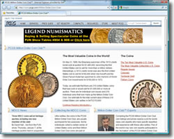 PCGS Million Dollar Coin Club Website