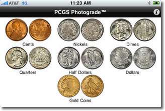 PCGS Photograde on iPhone, US Coin Types