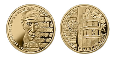 National Bank of Poland 200 Zlotych Warsaw Ghetto Uprising Gold Coin