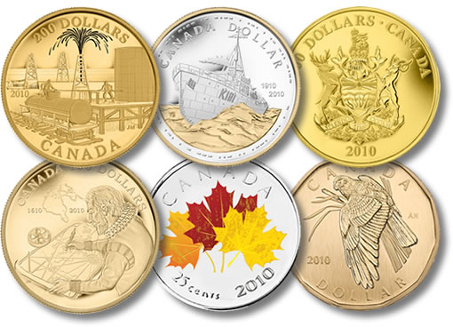 Royal Canadian Mint 2010 Collector Coins