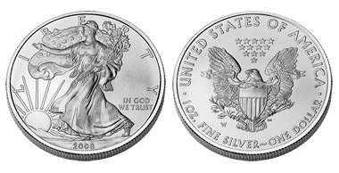 U.S. American Eagle one-ounce silver coin