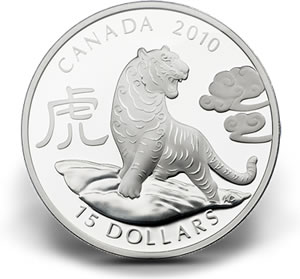 $15 Fine Silver Year of the Tiger Coin