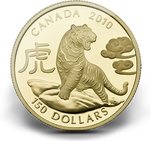 $150 Fine Gold Year of the Tiger Coin