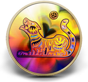 $150 Lunar Hologram Year of the Tiger Coin