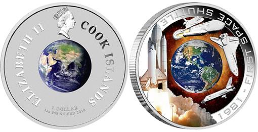 2010 First Space Shuttle 1oz Silver Orbital Coin