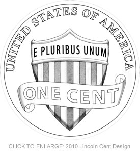 2010 Lincoln One-Cent Coin Reverse Design