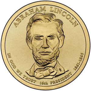 Abraham Lincoln Presidential Dollar Image