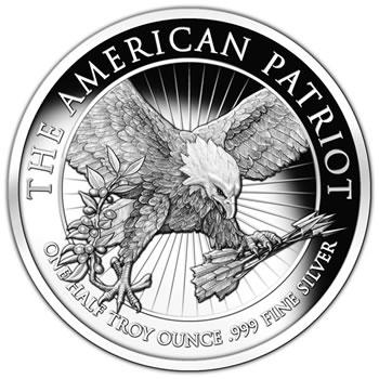 The American Patriot 0.5 ounce, .9999 fine silver round