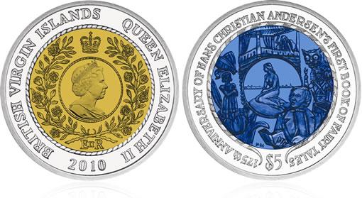 Bi-Color Titanium Coin Hans Christian Andersen