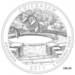 Chickasaw National Recreation Area Quarter Design Candidate Oklahoma OK-01