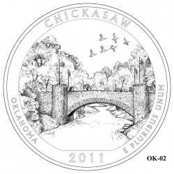 Chickasaw National Recreation Area Quarter Design Candidate Oklahoma OK-02