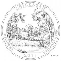 Chickasaw National Recreation Area Quarter Design Candidate Oklahoma OK-03