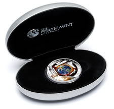 First Space Shuttle Silver Proof Orbital Coin Packaging