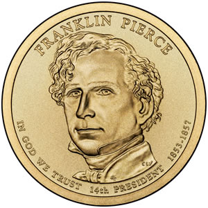 Franklin Pierce Presidential Dollar Image