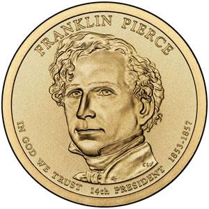 Franklin Pierce Presidential Dollar Image