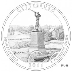 Gettysburg National Military Park Quarter Design Candidate - Click to Enlarge