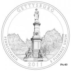 Gettysburg National Military Park Quarter Design Candidate Pennsylvania PA-03