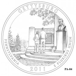 Gettysburg National Military Park Quarter Design Candidate Pennsylvania PA-04