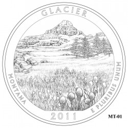 Glacier National Park Quarter Design Candidate Montana MT-01