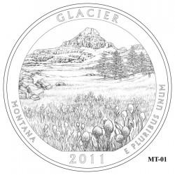 Glacier National Park Quarter Design Candidate Montana MT-01