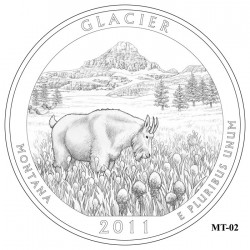 Glacier National Park Quarter Design Candidate Montana MT-02