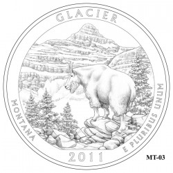 Glacier National Park Quarter Design Candidate Montana MT-03