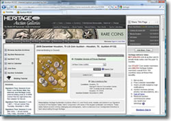Heritage Auctions Web site