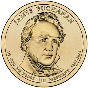 James Buchanan Presidential Dollar Image