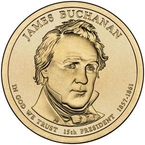 James Buchanan Presidential Dollar Image