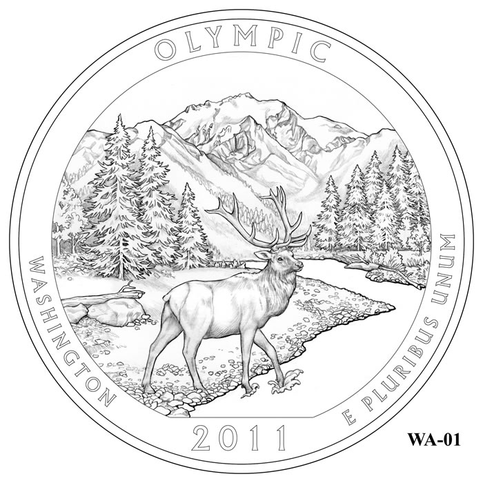 Olympic National Park Quarter Design Candidate Washington WA 01